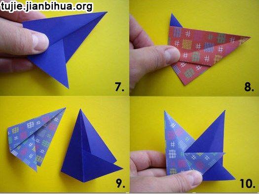 八角星和八边形折法图解
